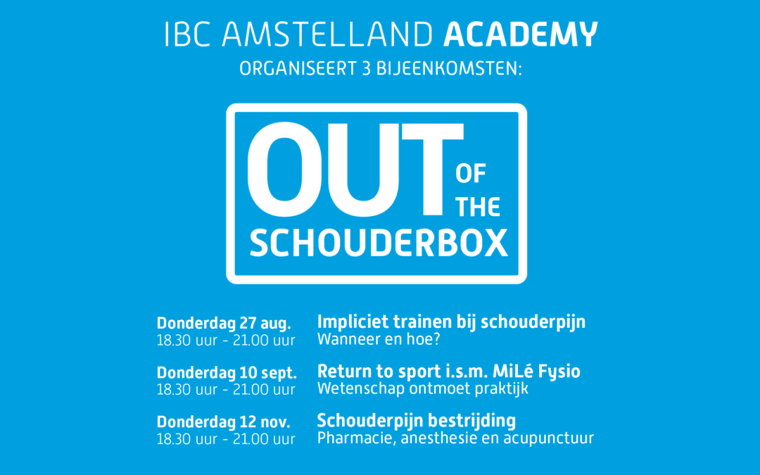 "Schouder Drie- Luik ""Out of the shoulder box"""