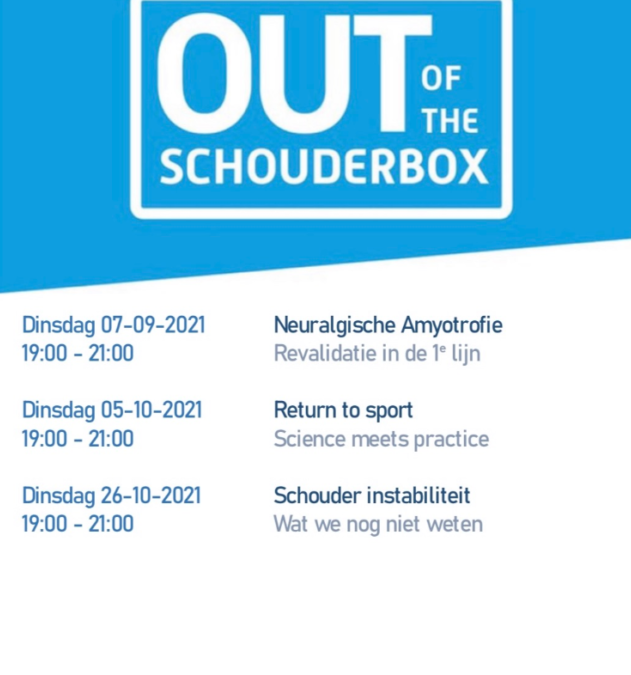 """Schouder Drie- Luik """"Out of the shoulder box"""""""